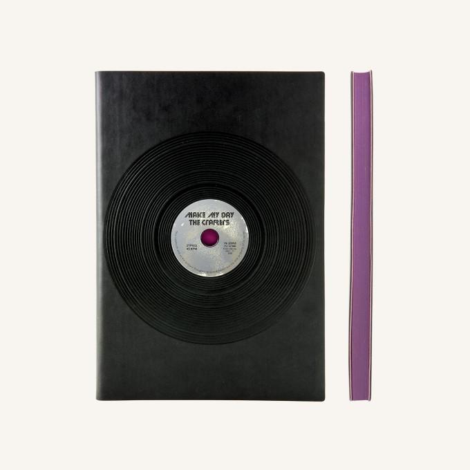 旗艦懷舊系列純白本 – A5, 黑膠唱片