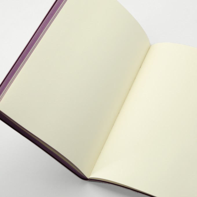 Signature Retro Plain Notebook  – A5, Vinyl