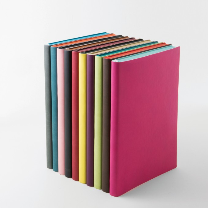 Signature Lined Notebook – A6, Pink