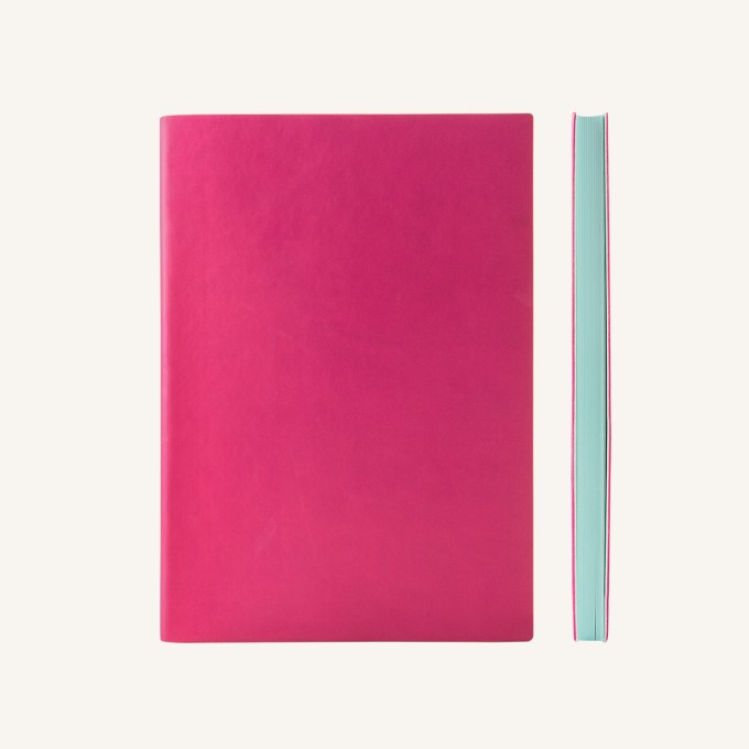 Signature Plain Notebook – A5, Magenta
