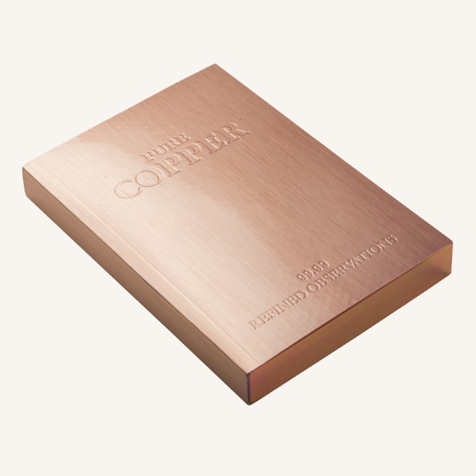 Slab Lined Notebook – A6, Copper