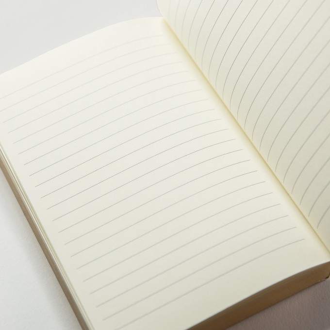 Slab LIned Notebook – A6, Teak