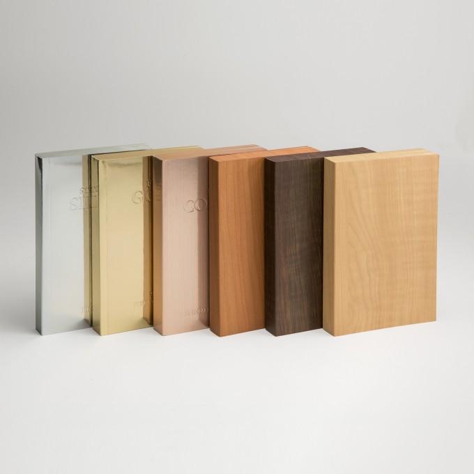 金木石系列橫線本 – A6, 紅木