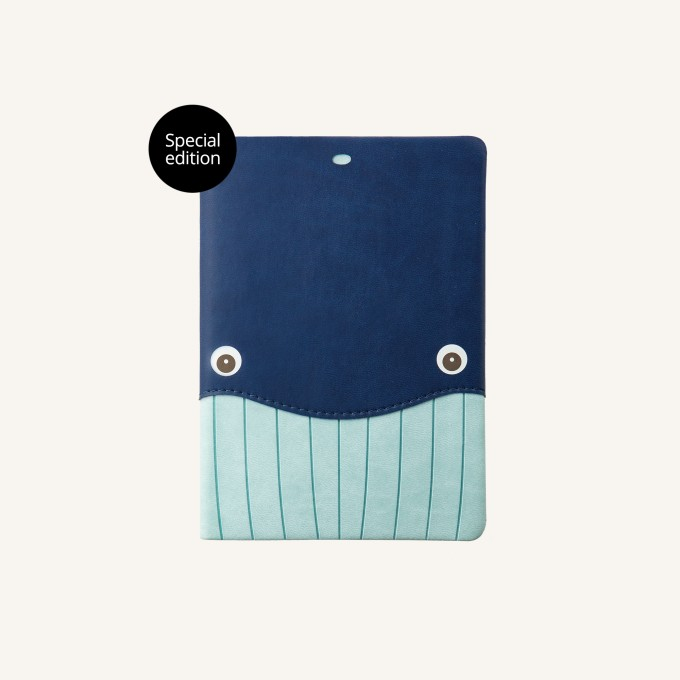 Animal Pals Lined Notebook – A6, Whale