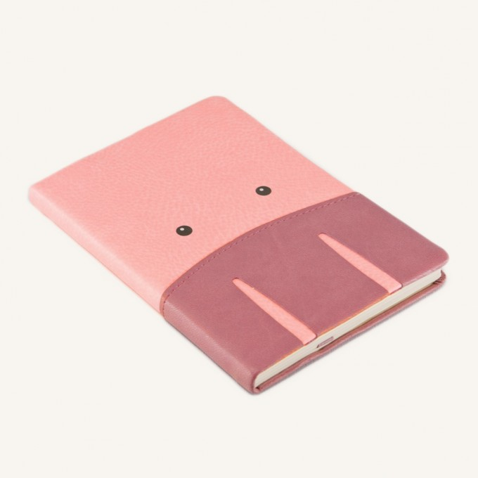Animal Pals Lined Notebook – A6, Pig