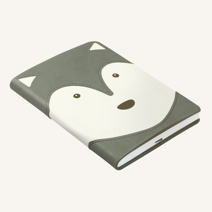 Animal Pals Lined Notebook – A6, Husky