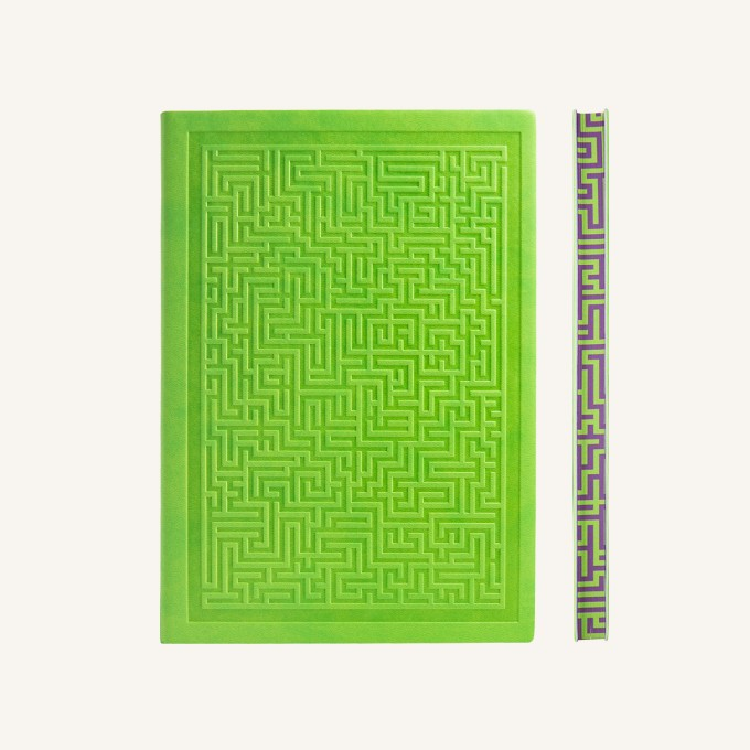 Signature Amazer Lined Notebook – A5, Green