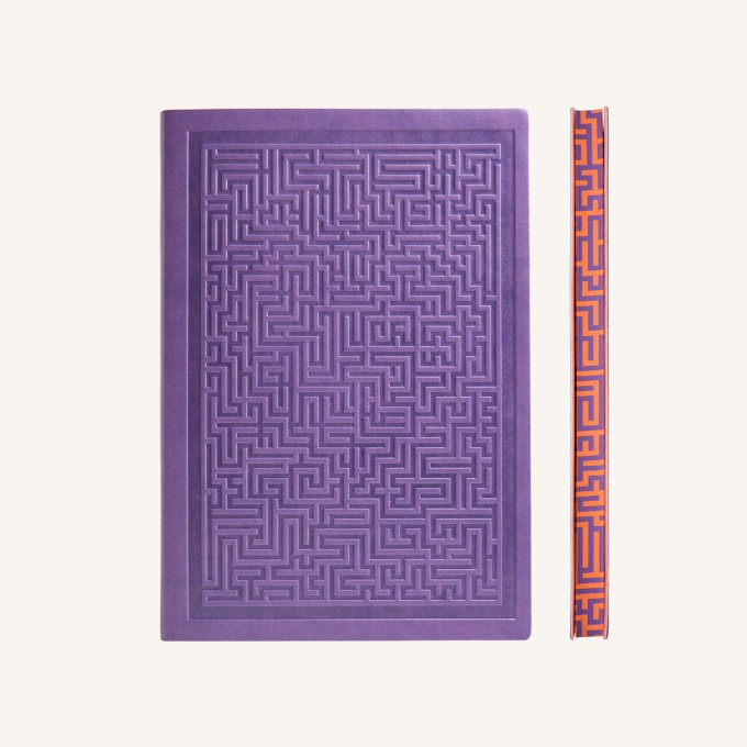 Signature Amazer Lined Notebook – A5, Purple