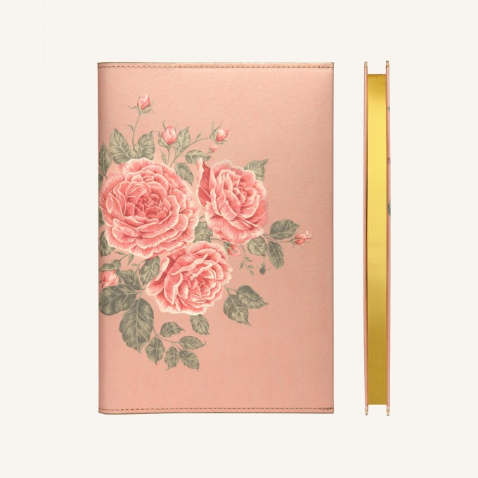 Flower Wow Lined Notebook – A5, Tea Rose