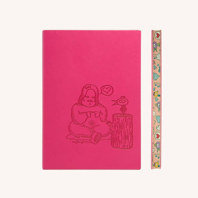 Animaland Plain Notebook  – A5, Gorilla