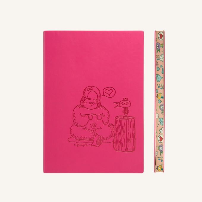 Animaland Plain Notebook  – A5, Gorilla