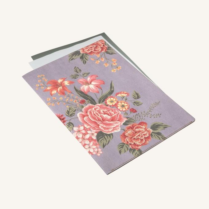 花花世界A4文件夾 - 淡紫色