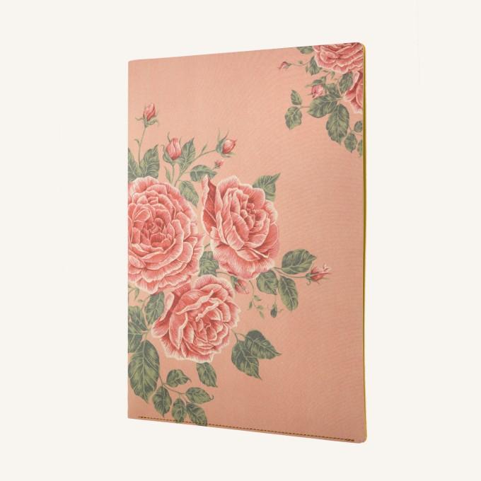花花世界A4文件夾 - 玫瑰茶色