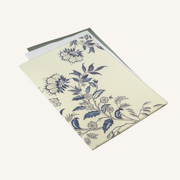 Flower Wow A4 Folder – Ceramic White