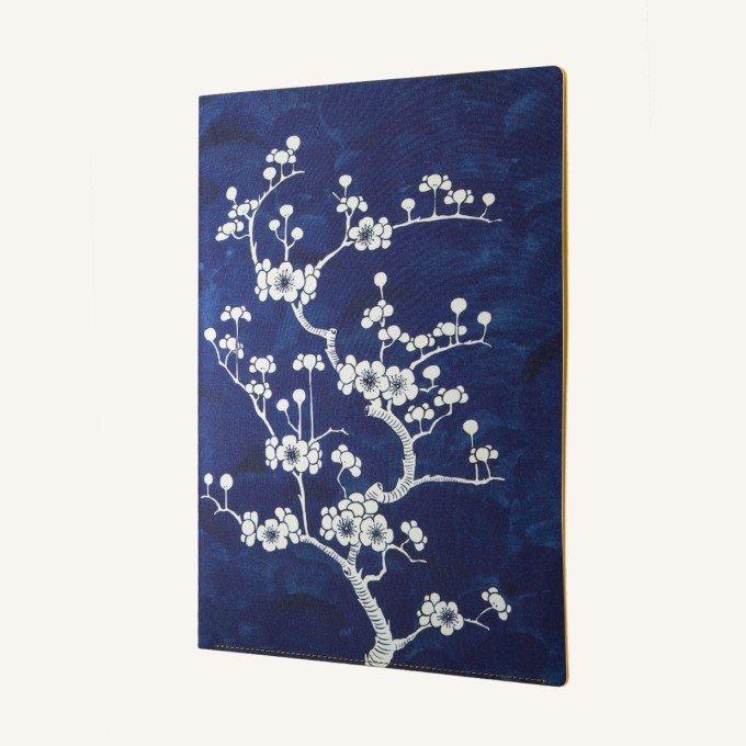 Flower Wow A4 Folder – Ceramic Blue