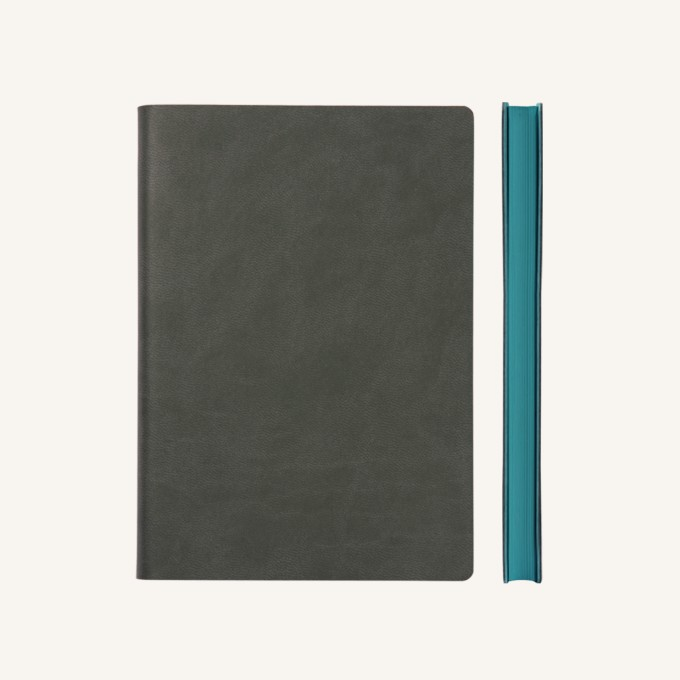 Signature Grid Notebook – A5, Grey