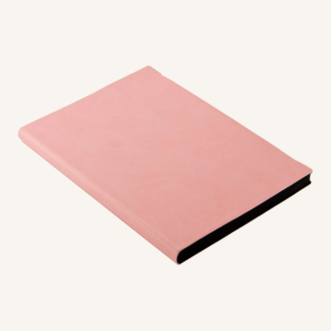 Signature Grid Notebook – A5, Pink