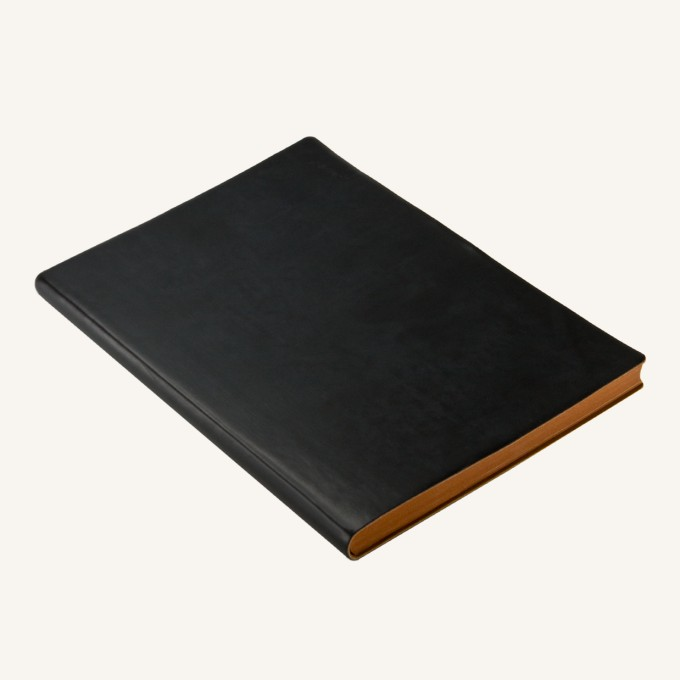 Signature Grid Notebook – A5, Black