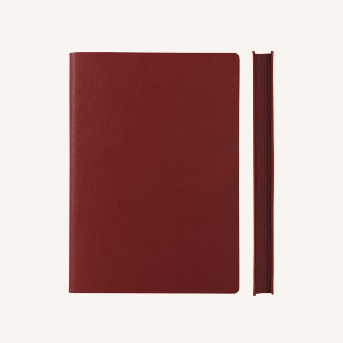 Signature Grid Notebook – A5, Red