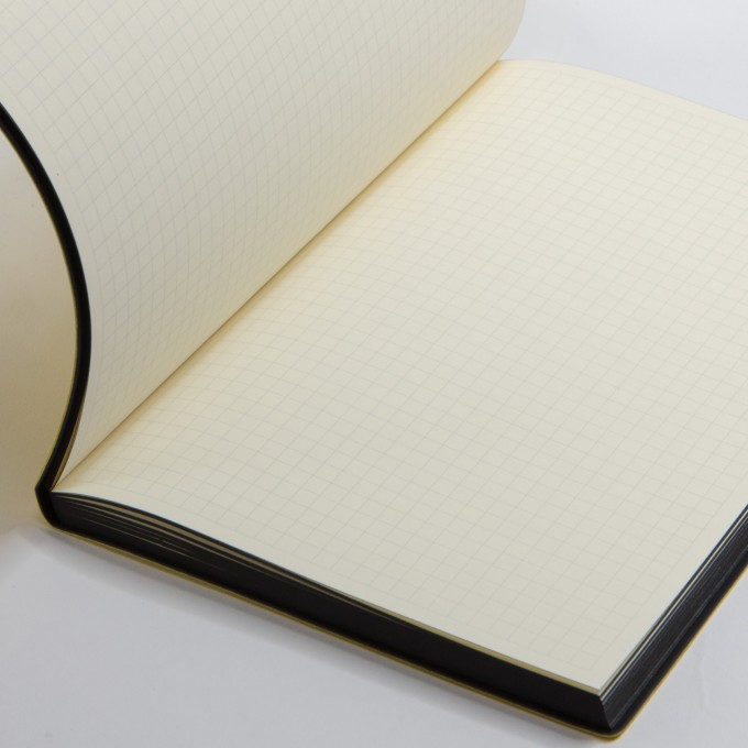 Signature Grid Notebook – A5, Yellow