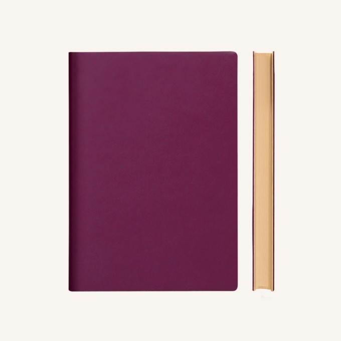 Signature Grid Notebook – A5, Purple