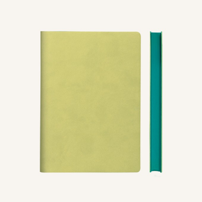 Signature Grid Notebook – A5, Light Green