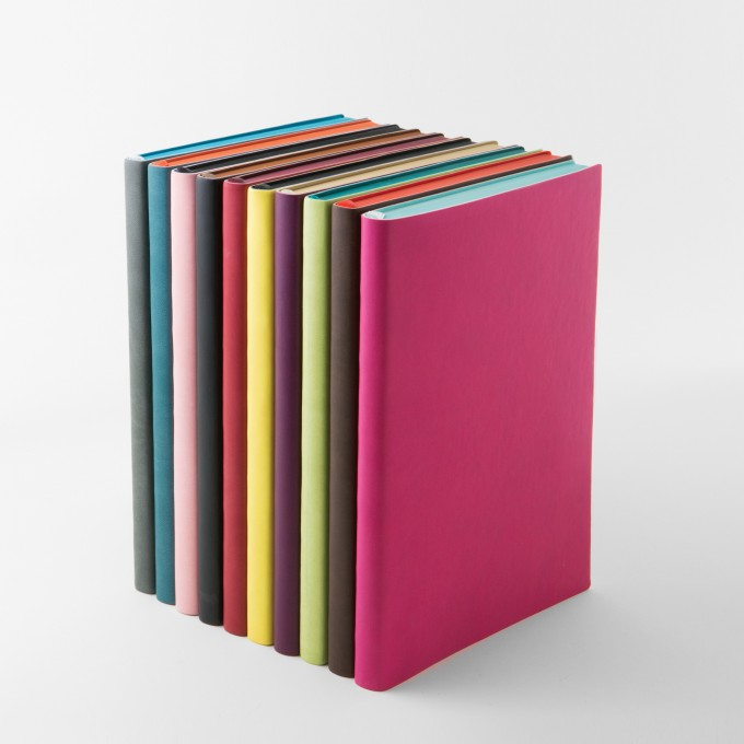 Signature Grid Notebook – A5, Magenta