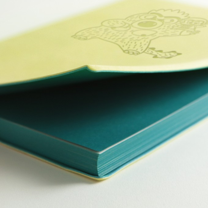 "Signature ""McDull"" Movie Edition Lined Notebook - A5, Light Green"