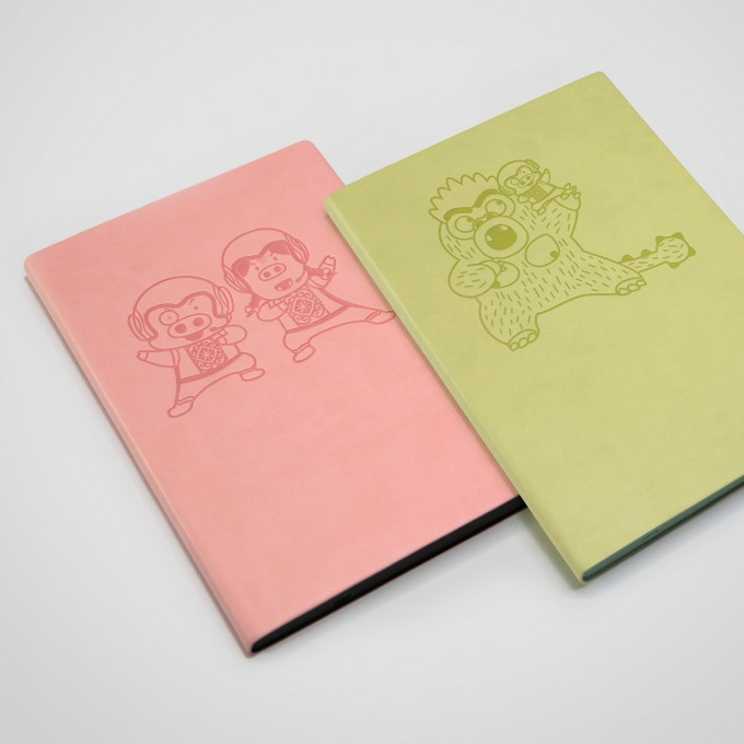 "Signature ""McDull"" Movie Edition Lined Notebook - A5, Pink"