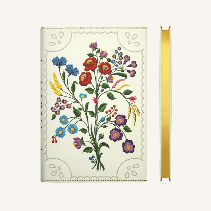 Flower Wow Lined Notebook – A5, Kalocsa Violets