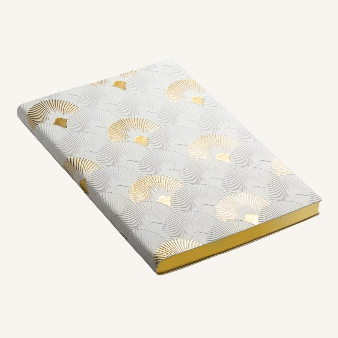 Signature Art Deco Dotted Notebook - A5, Fanfare