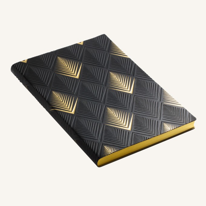 Signature Art Deco Dotted Notebook - A5, Pyramid