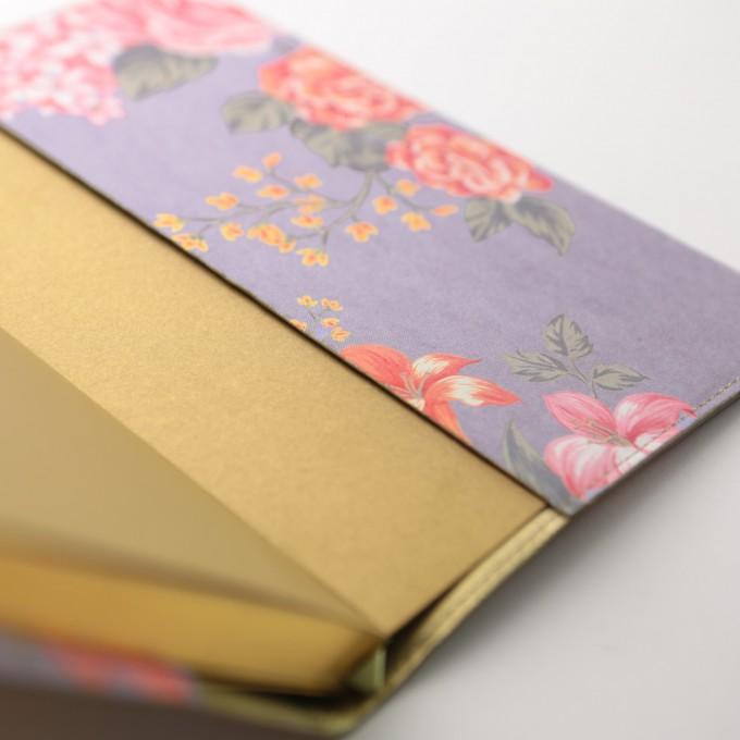 花花世界系列横线本 - A5, 淡紫色
