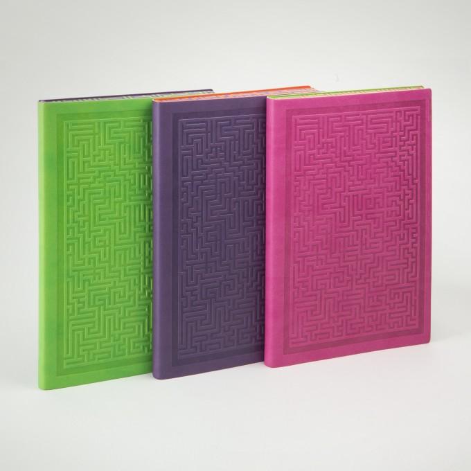 旗舰情谜系列横线本 - A5, 粉红色