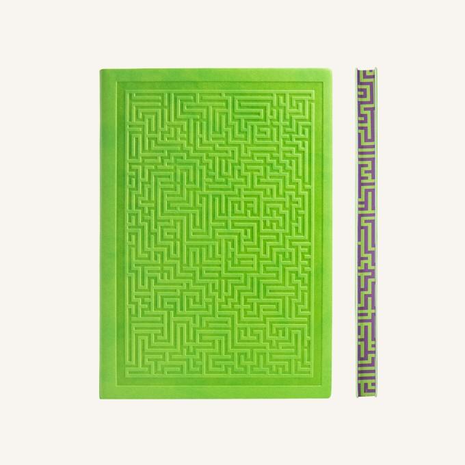 旗舰情谜系列横线本 - A5, 绿色