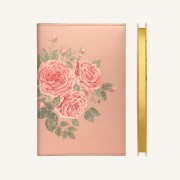 花花世界系列横线本 - A5, 玫瑰茶色