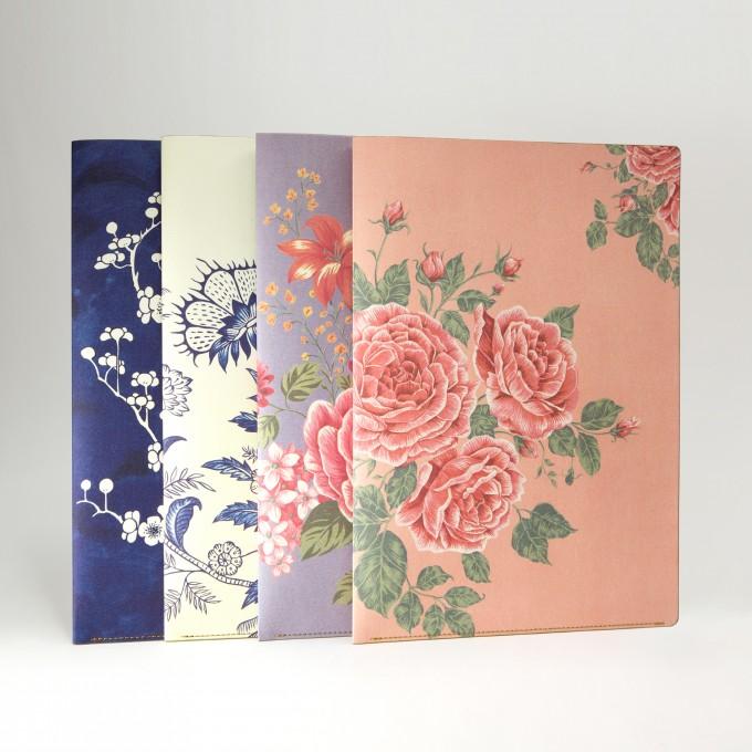 花花世界A4文件夹 - 玫瑰茶色