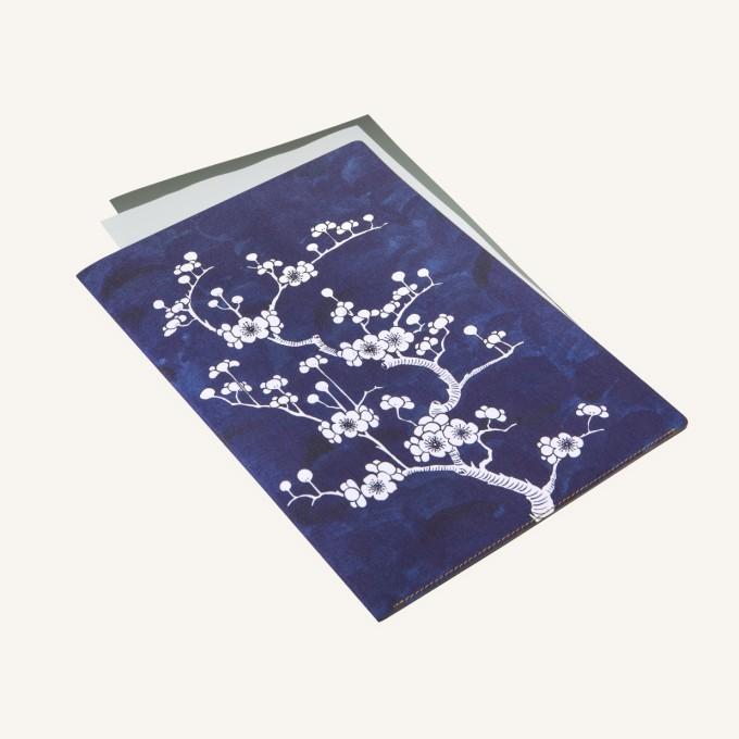 花花世界A4文件夹 - 陶瓷蓝