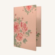 花花世界信封文件夹 - 玫瑰茶色